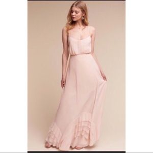 BHLDN anthropologie Watters I've pink gown size 4